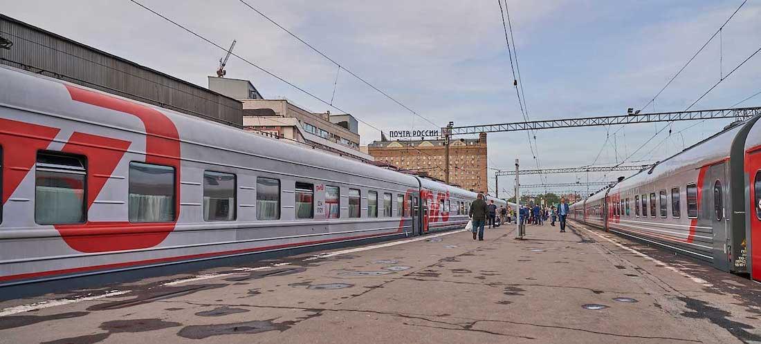 Ortsunabhängig arbeiten Transsibirische Eisenbahn