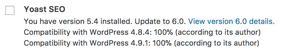 WordPress Plugin-Update verfügbar