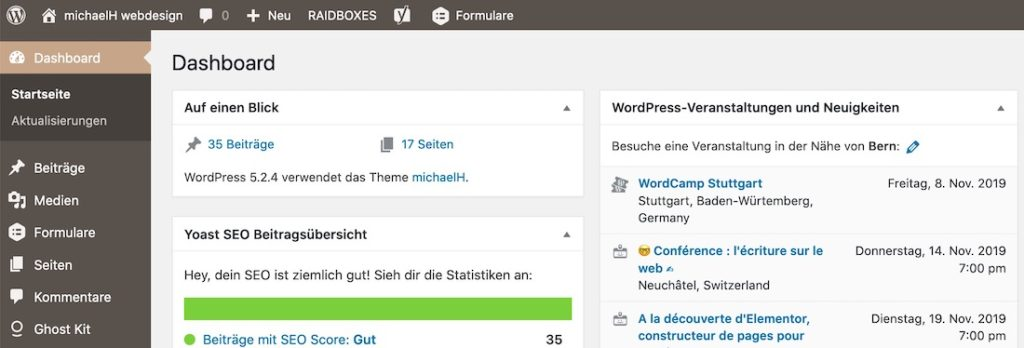 WordPress-Backend