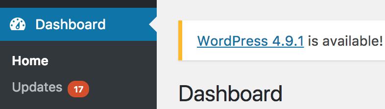 WordPress-Update fehlgeschlagen