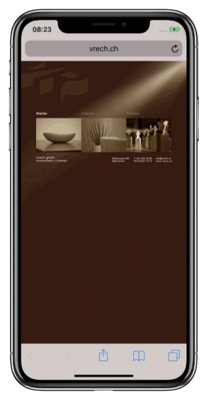 vrech gmbh vorherige Website Smartphone-Ansicht