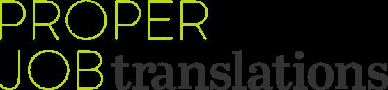Proper Job Translations - Referenz von michaelH webdesign Zürich