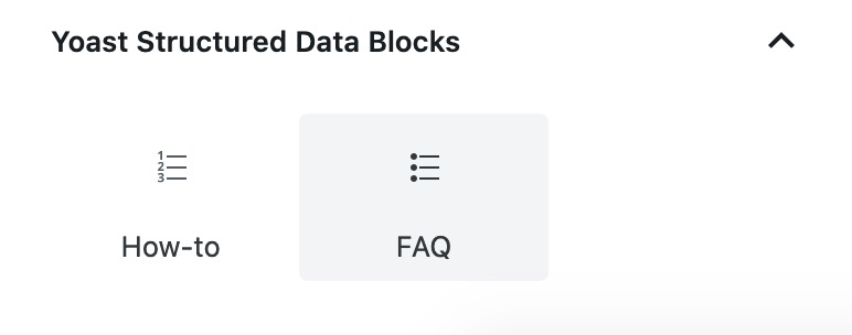 Yoast FAQ Block